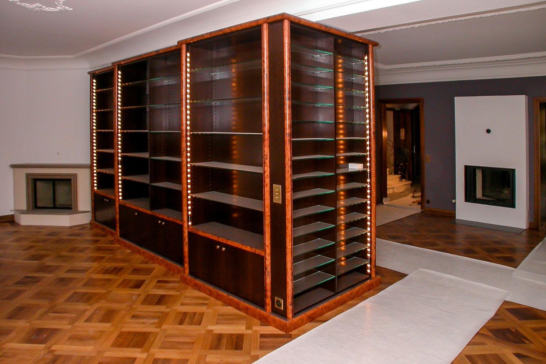 loutan bibliothèque mobilier verre