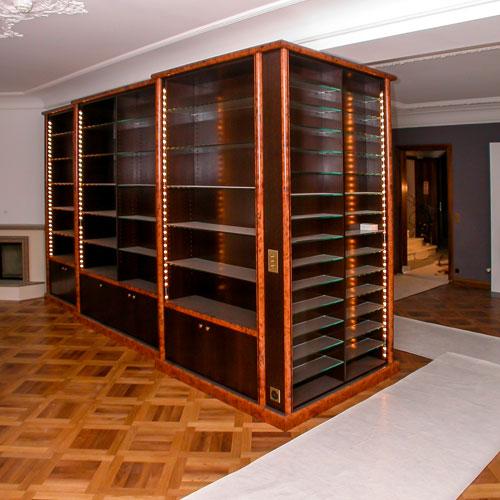 loutan agencement mobilier bois verre