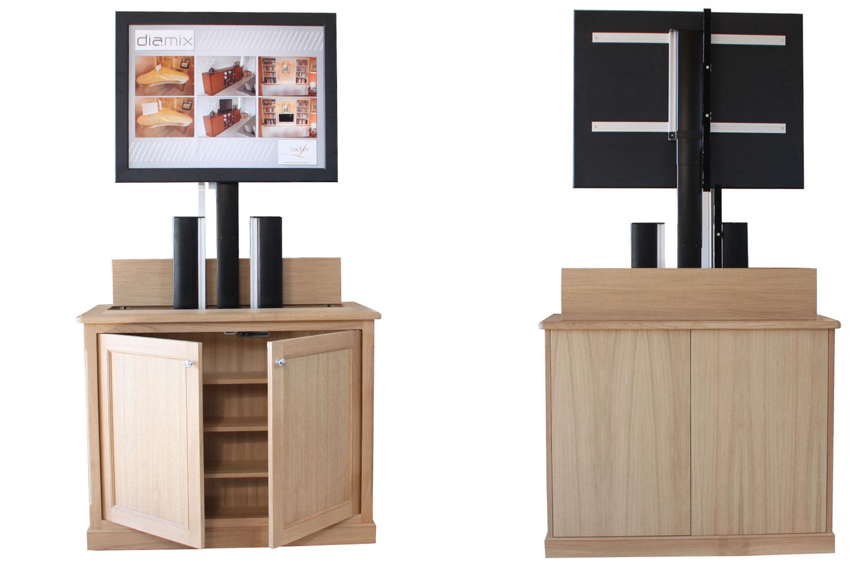 conception meubles motorisés téléviseur diamix