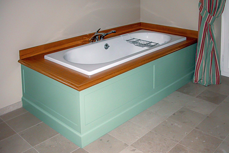 aménagment salle de bain intégration baignoire