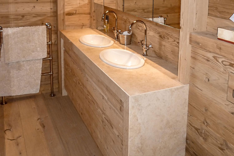 pose meuble salle de bain integration vasques