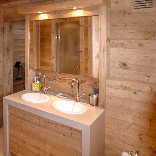 loutan fabrication mobilier salle de bain bois brut