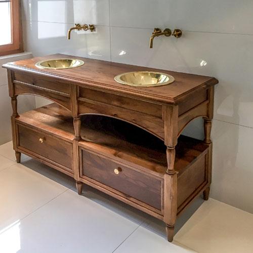 loutan salle de bain restauration meuble ancien